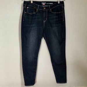 Levi's Denizen Curvy Skinny Dark Wash Ankle Jeans